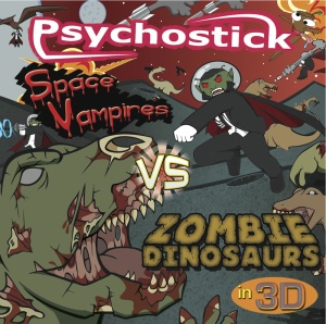 Space Vampires vs Zombie Dinosaurs includes Sadface and lots of other rockin' funny tunes.